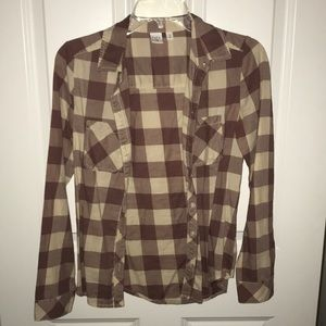 Plaid BP by Nordstrom button up top